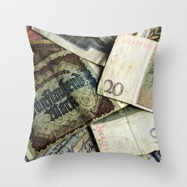 Old German money Throw Pillow