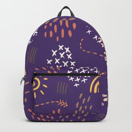Abstract Fireworks Pattern Backpack