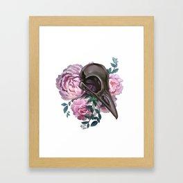 Skull and roses Framed Art Print