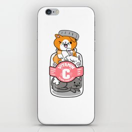 Cat Vitamins pill Catlady funny gifts iPhone Skin
