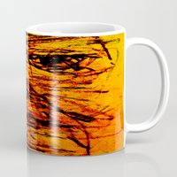 depression Mugs featuring Depression in Charcoal by Abram Freitas