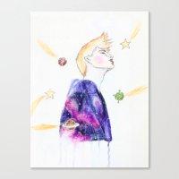 le petit prince Canvas Prints featuring Le Petit Prince by Bleu Cha