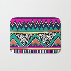 Multicolor tribal background with doodle elements Bath Mat