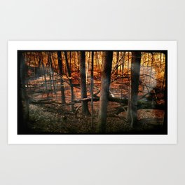 Sky Fire - surreal landscape photography Art Print