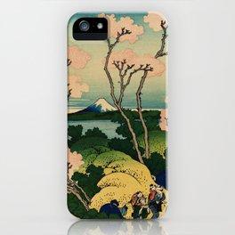 "Hokusai (1760–1849) ""Goten-yama-hill, Shinagawa on the Tōkaidō"" iPhone Case"