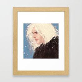 Mean Barbarian Queen Framed Art Print