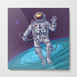 Vector illustration cosmonaut Metal Print