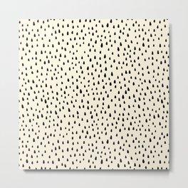 Cream Paint Drops Metal Print