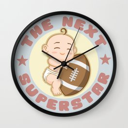 The next superstar - american football Wall Clock