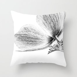 A Flower Of No Color Throw Pillow