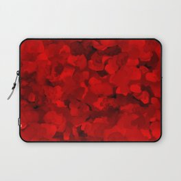 Rich Scarlet Red Gradient Abstract Laptop Sleeve