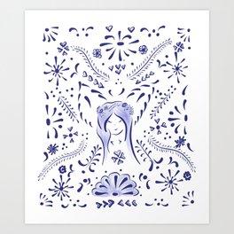 Talavera Fairy Art Print