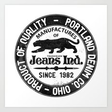 Jeans Ind. Art Print