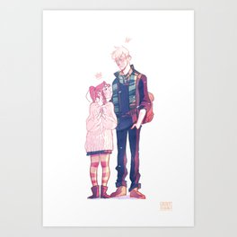 Smelling like snow Art Print