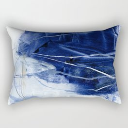 blue abstract Rectangular Pillow