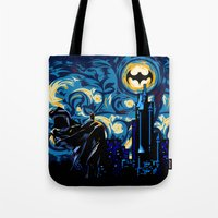 van Tote Bags featuring Starry Knight iPhone 4 4s 5 5c 6, pillow case, mugs and tshirt by Three Second
