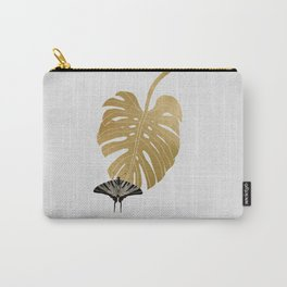 Butterfly & Monstera Carry-All Pouch