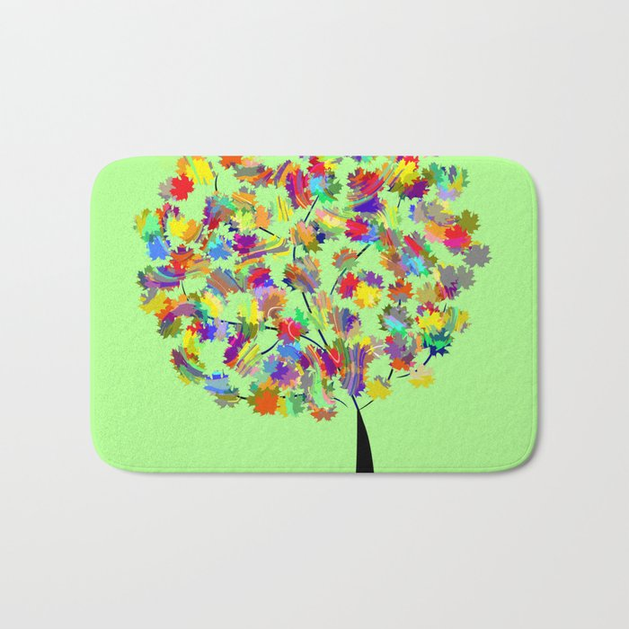 Tree of colors Bath Mat