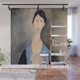 "Amedeo Modigliani ""Young Woman in Blue"" Wall Mural"