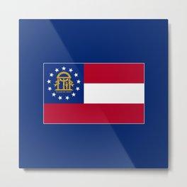 Georgia State Flag Patriotic Design Metal Print