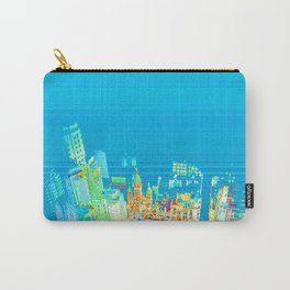 Colorful building city eagle view over blue sky 002 Carry-All Pouch