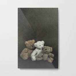 teddy bear family Metal Print