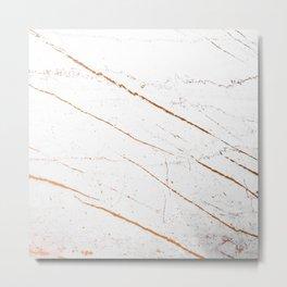 Rose Gold Marble #society6 #decor #buyart Metal Print