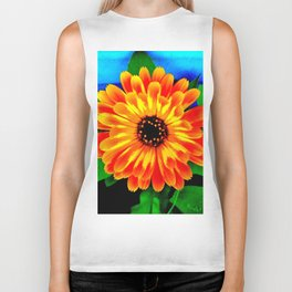 Orange Marigold Biker Tank