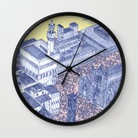 florence Wall Clocks featuring Florence by Dylan Davis