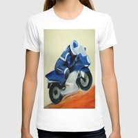motorbike T-shirts featuring Art, painting, illustration, motorbike by WhitePanther