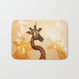 The unicorn Giraffe Bath Mat