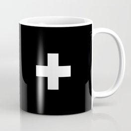 Swiss Cross Black and White Scandinavian Design for minimalism home room wall decor art apartment Coffee Mug