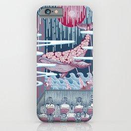 Japan Whale, Humbak Marine Biology colored iPhone Case