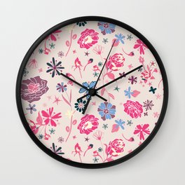 Fragrant Blooms 2 Wall Clock