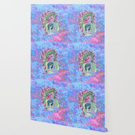 Neon Mermaid Doing Yoga Wallpaper