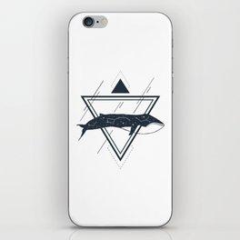 Cosmic Whale. Geometric Style iPhone Skin