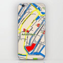 Amsterdam Map design iPhone Skin