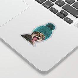 Cat with hat illustration Sticker