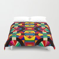 introvert Duvet Covers featuring Introvert/Extrovert by Art by Andrew Smith