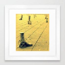 Wheelie feet Framed Art Print