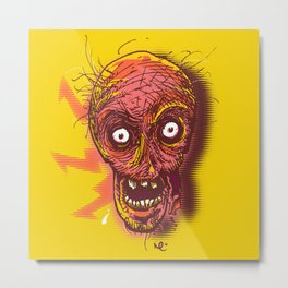 Hungry Zombie Metal Print