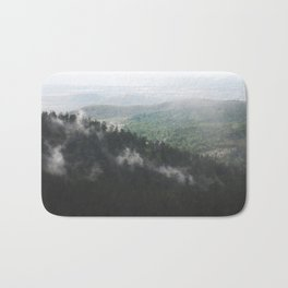 Clouds in the forest Bath Mat