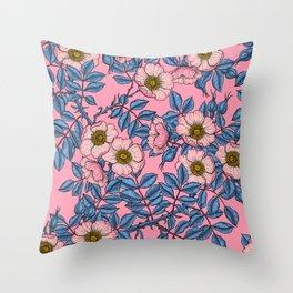 Dog rose pattern  Throw Pillow