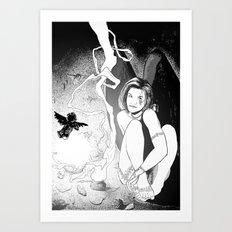 B & W No.7 Art Print