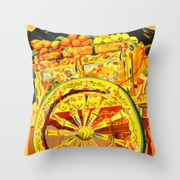Sicilia Italia Travel Poster Throw Pillow