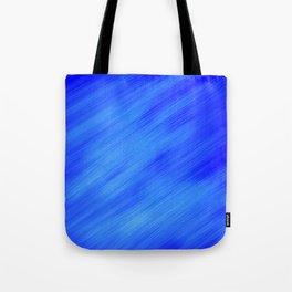Blue White Swipe Tote Bag