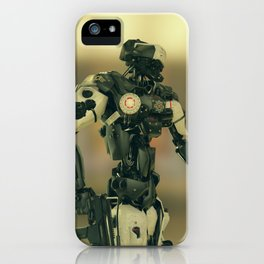 CyberCop - The Future of Law Enforcement - Robot Police - Sci-Fi Artwork iPhone Case