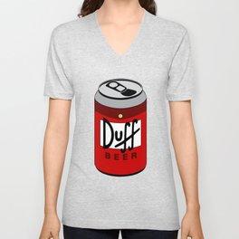 Duff Beer Can Unisex V-Neck