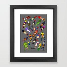 Butt of Superhero Villian - Dark Framed Art Print