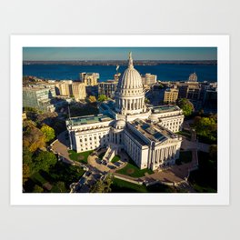 Wisconsin State Capitol Building Art Print
